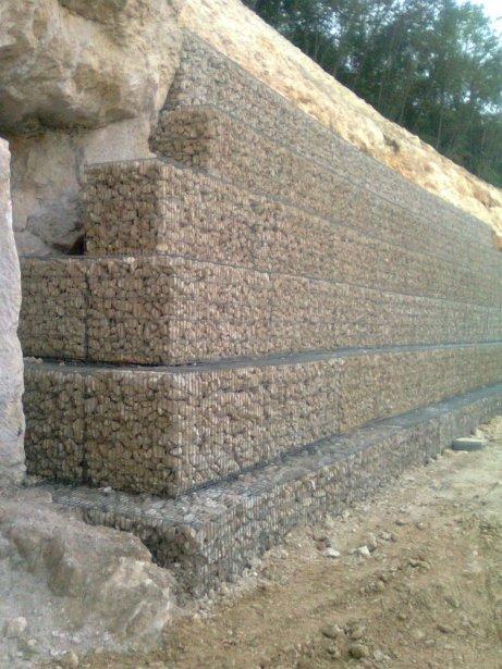 Muri Di Sostegno In Gabbioni.Forniture Gabbioni Metallici Armati Portanti